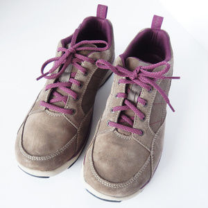 LL Bean Taupe Gray Suede Comfort Sneakers